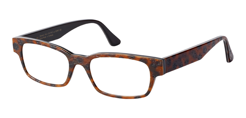 Ralphie::Morgenthal Frederics Buffalo Horn Collection.<br />Classic rectangle in pressed and textured genuine buffalo horn, handcrafted in Germany.<br />Spotty horn.