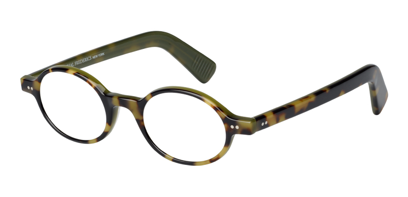 Tru::Morgenthal Frederics Classic Acetate Collection.<br />Handcrafted in France. Classic oval featuring paddle temple ends.<br />Tortoise.