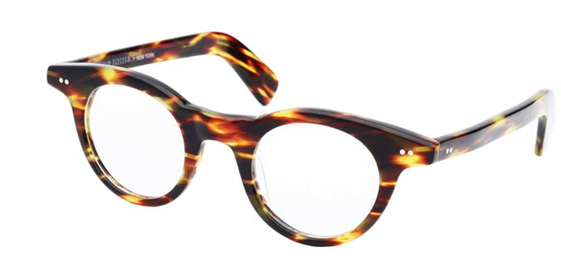 BEA::Morgenthal Frederics Acetate Classic Collection.<br />Handcrafted in France, tortoise streak frame.