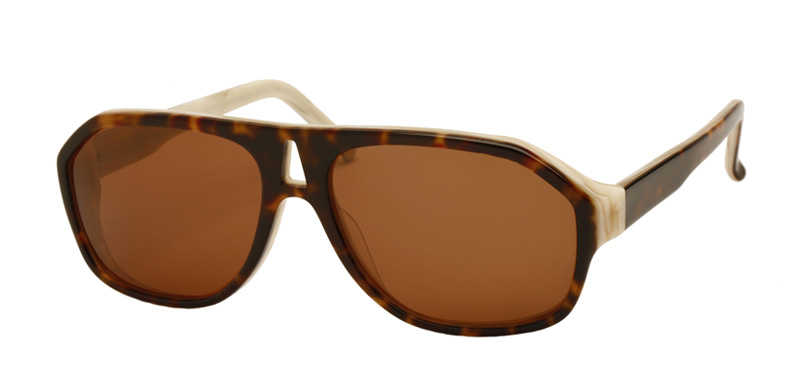EARHART::Morgenthal Frederics Acetate Collection.<br />Acetate aviator with faceted end piece. Handmade in France.