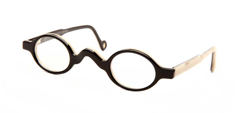 LIFESAVER::Morgenthal Frederics Lifesaver Collection.<br />Handcrafted in France, open temple tip with pointed bridge.