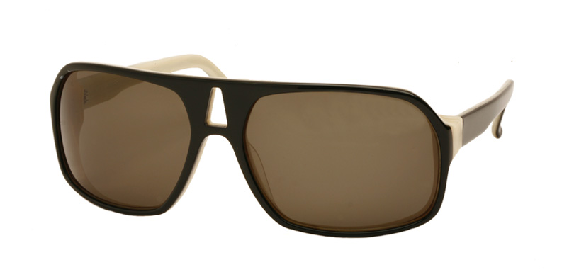 LINDBERGH::Morgenthal Frederics Acetate Collection.<br />Acetate aviator with faceted end piece. Handmade in France.