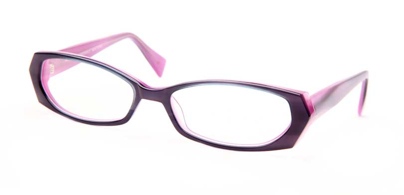 MISCHA::Morgenthal Frederics Acetate Classic Collection.<br />Handcrafted in Japan, pearl Blue on a lavender lamination with faceted temples.<br />
