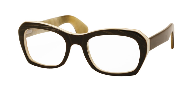 SANTINO::Morgenthal Frederics Buffalo Horn Collection.<br />Genuine buffalo horn handcrafted in Germany. Heavy-gauge optical frame with unique thick temple.